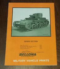 Bellona Military Vehicle Prints Series Sixteen