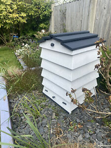Beehive composter kit - Real Wood With Solid Oak Roof For Durability