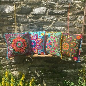 Embroidered Cushion Covers – Gypsy Boho Hippie Ethnic Nomads Wales