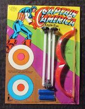 1970's CAPTAIN AMERICA Eagle Eye Archery Set MOC Larami Unpunched