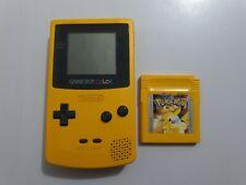 Consola Nintendo Game Boy Color Amarilla+Pokemon Edicion Amarillo de regalo