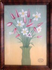 HUGO.Le bouquet de tulipes.1936.Gouache.27x19.SBD.Encadré.29x21.