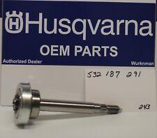 Genuine OEM Husqvarna    532187291 SPINDLE SHAFT POULAN Craftsman