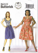 50s Inspired Corset Dress Drindl Skirt Sewing Patterns by Gertie 6 8 10 12 14