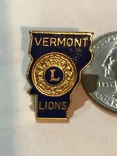 Lions Club INTERNATIONAL Pins - Vermont 1971 State Blue MD-45