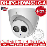 Dahua IPC-HDW4631C-A 6MP POE IR30 Mic IP Camera DH-PFB204W Wall Mount Bracket