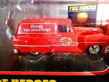 "CORGI DIECAST-  FIRE HEROES -1953 PONTIAC VAN NEWARK F.D. -3 1/2"" LONG- NIP"