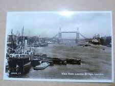 1933 Used REAL PHOTO POSTCARD- VIEW FROM LONDON BRIDGE, LONDON + STAMP