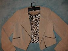 Genuine Suede Leather Jacket. Quality Size12 Medium. Just Jeans. As New, Perfect