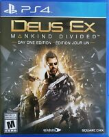 Deus Ex: Mankind Divided - Day One Edition (Sony PlayStation 4, 2016) New Opened