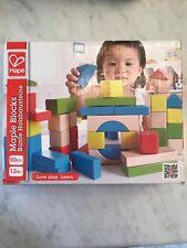wooden block set (50 pieces) - NEW - hape maple blocks