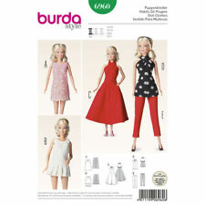 Burda Sewing Pattern 6960 Barbie/Fashion Dolls Clothes Dress Pants Approx 11-12""