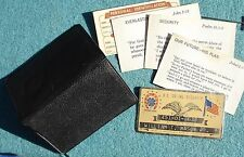 Metal US SOCIAL SECURITY Card w Holder GOOD LUCK Horseshoe Four Leaf Clover Flag
