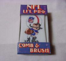 Nfl Li'L Pro Football Player Child's Comb & Brush w/ Box New Old Stock T*