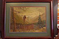Original Heinrich Wegener Listed Artist Alpine Scene Oil Painting 1930's 17X12