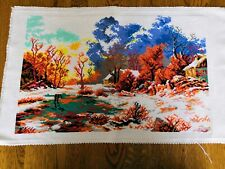 Large Counted Cross Stitch Unframed Picture Winter 41.5x26.5 cm