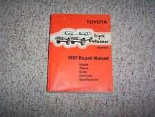 1987 Toyota Truck & 4Runner Factory Shop Service Repair Manual 4WD