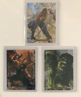 2018 Marvel Masterpieces Tier 4 Lot (3) Spider-Man Hulk Thor /99