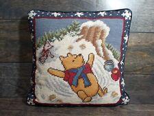 Classic Winnie The Pooh Piglet Needlepoint Embroidery Pillow Velvet Baby Nursery