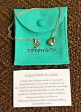 Tiffany & Co. Sterling Silver Frank Gehry 3-D Heart Pendant Necklace Pouch & Box