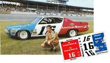 CD_1678 #16 Mark Donohue  1973 Penske Matador 1:64 Scale Decals ~OVERSTOCK~