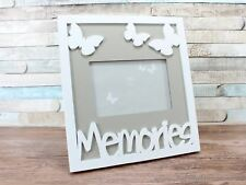 "4X6"" White And Grey Memories Photo Picture Frame Wall Decor"