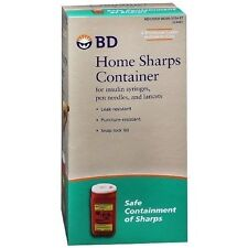 BD Home Sharps Container Insulin Syringes Disposal Dispose Pen Needles Lancets