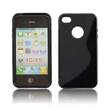 Silikonhülle für Apple iPhone 4 4S Silicon Case Silikon Cover Schwarz S-Case