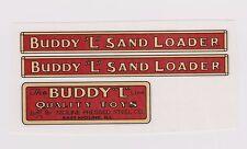 BUDDY-L  SAND  LOADER  DECAL SET