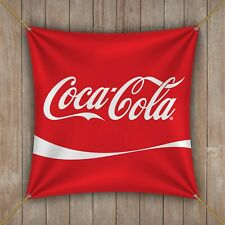 Coca Cola Flag Banner 1x1 ft Drink Coke Zero Sip Beverage Man Cave Garage