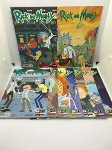 RICK AND MORTY #1-9 BUNDLE SET Oni Press Comics 2015 1st Prints Adult Swim
