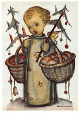 """vintage unused greeting cards  ARS SACRA B.I.Hummel """"mery christmas """"3754"""""""