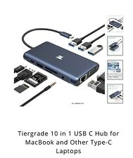 Tiergrade 10 in 1 Usb C Hub for MacBook and Other Type-C Laptops