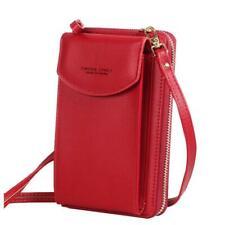 Универсальный женский синтетическая кожа через плечо сотовый телефон наплечная сумка/сцепления
