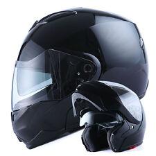 NEW 1Storm DOT Motorcycle Bike Modular Flip up Full Face Helmet Dual Visor Black