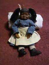Unique~Homemade Folk Art~Black Americana Primitive Doll ~ 1987~