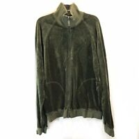 Juicy Couture Olive Zip Up Velour Jacket Large