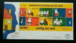 [SJ] Holland Children Postal 2005 Netherlands Rabbit Cartoon (FDC) *c descript