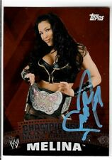 Melina Perez Signed 2010 Topps WWE Championship Material Divas Card