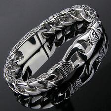 Aztec Mens Chain Link Stainless Steel Bracelet