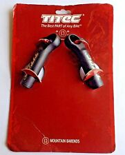 RARE VINTAGE TITEC HELLBENT MICROS PAIR MOUNTAIN BARENDS BAR ENDS BLACK BEAA1-04