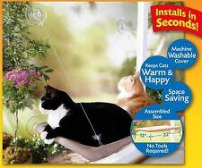 Cat Window Perch Bed Seat Hammock Mounted Shelf 50 lbs Kitty Sofas Bolster Sleep