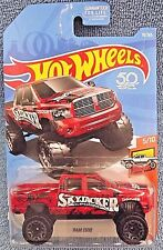 2018 Hot Wheels #10 HW Hot Trucks 5/10 RAM 1500 RED w/Gray Beadlock Spoke Wheels