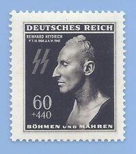 Germany Third Reich Nazi B&M Heydrich Death Mask 60+440 Stamp MNH WW2 Era