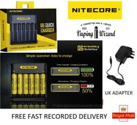 AUTHENTIC Nitecore Q6 2018 6 Bay Battery Charger FOR 26650 20700 21700 18650....