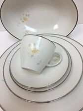 Noritake MIYAKO Japan 19 Pc. Ivory China 7566 (Plates,Cups,Saucers,Serving Bowl)