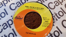 1967 BEATLES BABY YOU'RE A RICH MAN WE CAN WORK IT OUT CAPITOL SUBSIDIARY 45