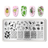 BORN PRETTY Nail Art Stamping Plate Flamingo Decors Pattern Tropical-L00