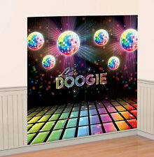 Disco Fever Raum-Dekoration 2er-Set NEU - Partyartikel Dekoration Karneval Fasch