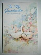 """Hallmark ~ """"FOR MY GRANDMOTHER WITH LOVE AT EASTER"""" GREETING CARD + ENVELOPE"""
